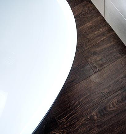 Bathroom Hardwood Floor