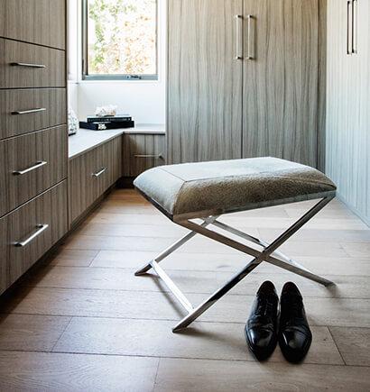 Master Bedroom Walk-In Closet Bench