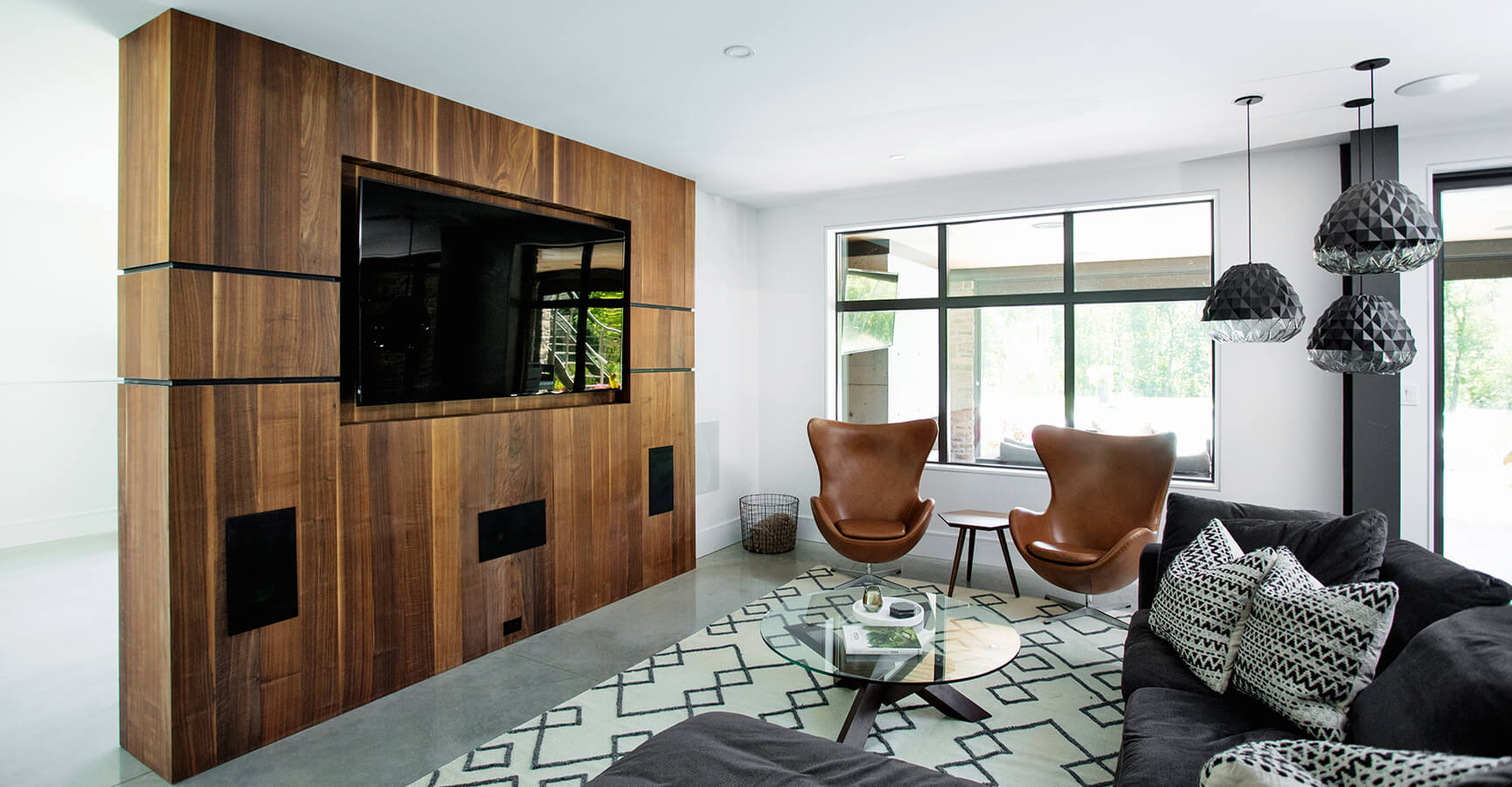 Modern living room sofa and chairs