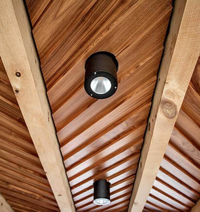 Timber Frame Ceiling Light Fixture