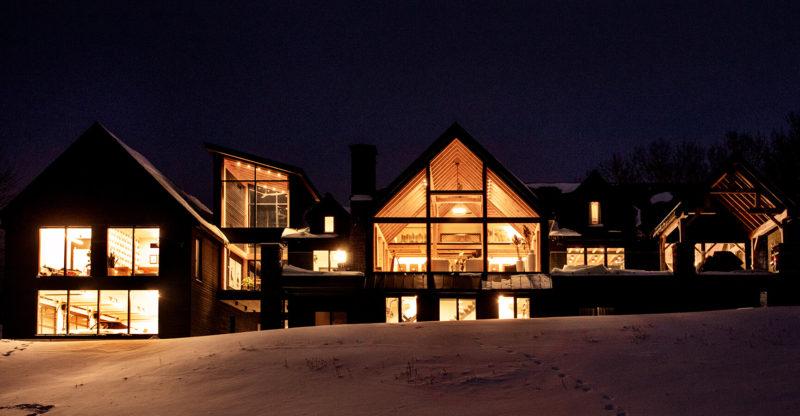 Modern Timber Frame Home Exterior