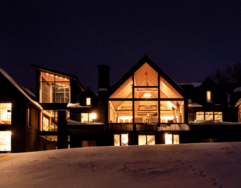 Modern Timber Frame Home Exterior