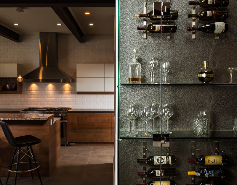Modern Kitchen Design & Wine Rack