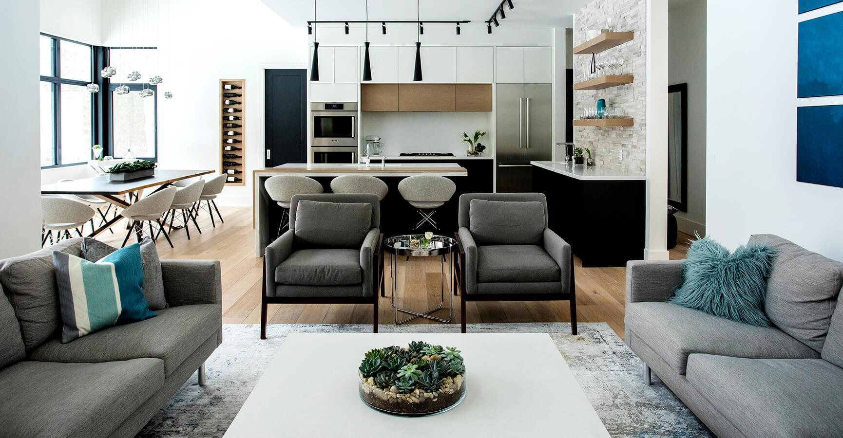 Living Room Furniture & Kitchen Design