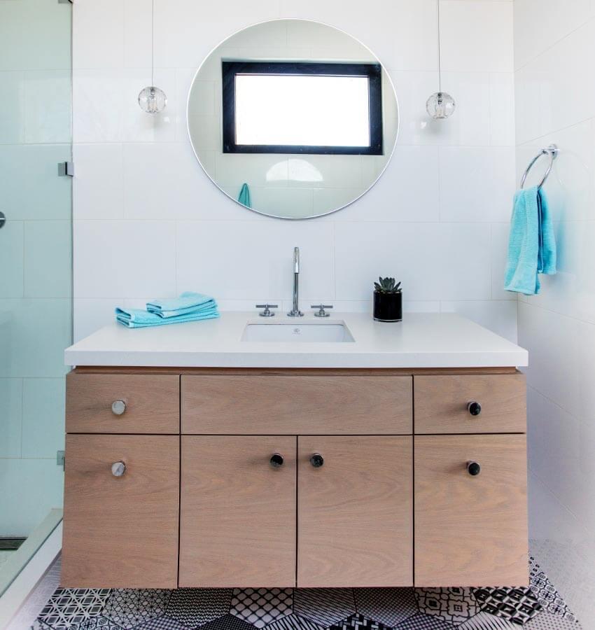 Modern Bathroom Vanity, Sink & Mirror