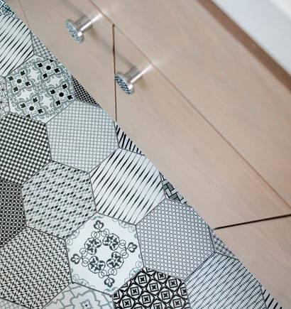 Bathroom Vanity and Tile