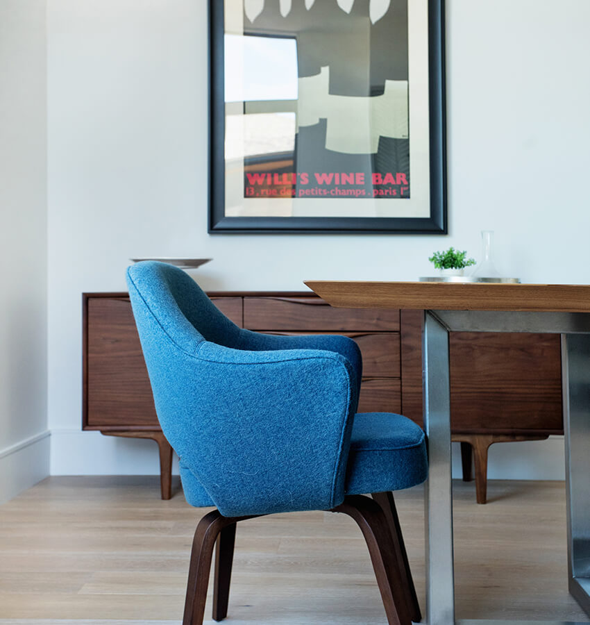 Modern Blue Dining Room Chair
