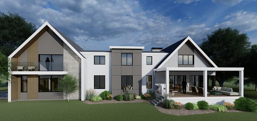 Modern Residential Rendering Back