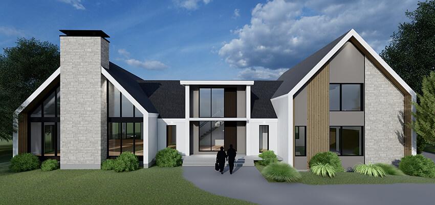 Modern Residential Rendering Front