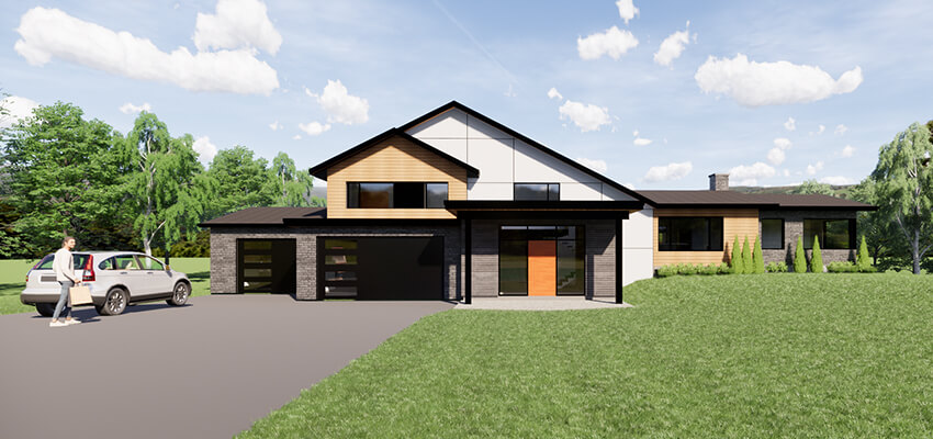 Modern House Rendering Front