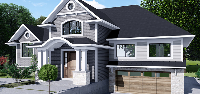 Traditional Home Rendering Front