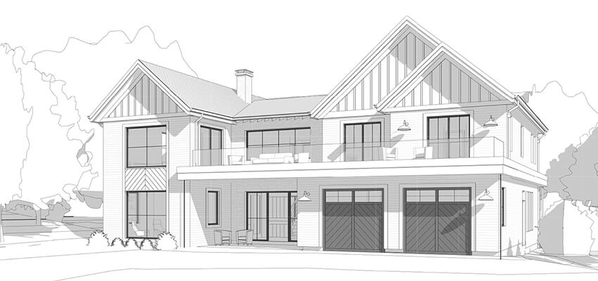 Architecture Drawing Front