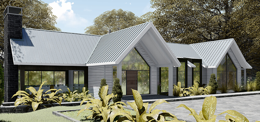 Exterior House Rendering Front