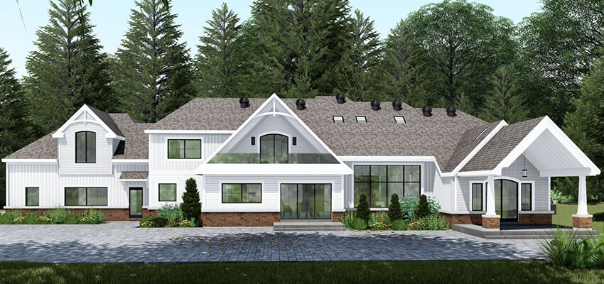 Exterior Home Rendering Back