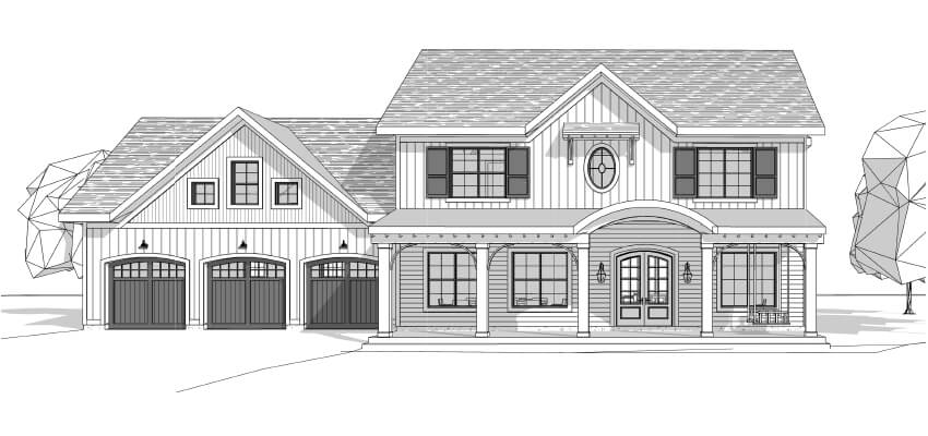 Architectural Drawing Front