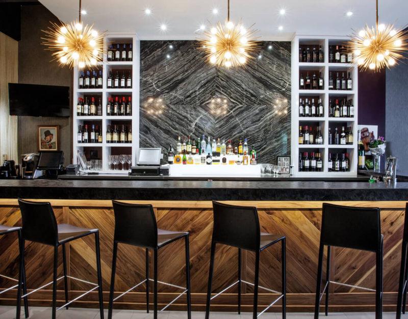 Restaurant Bar Design and Backsplash