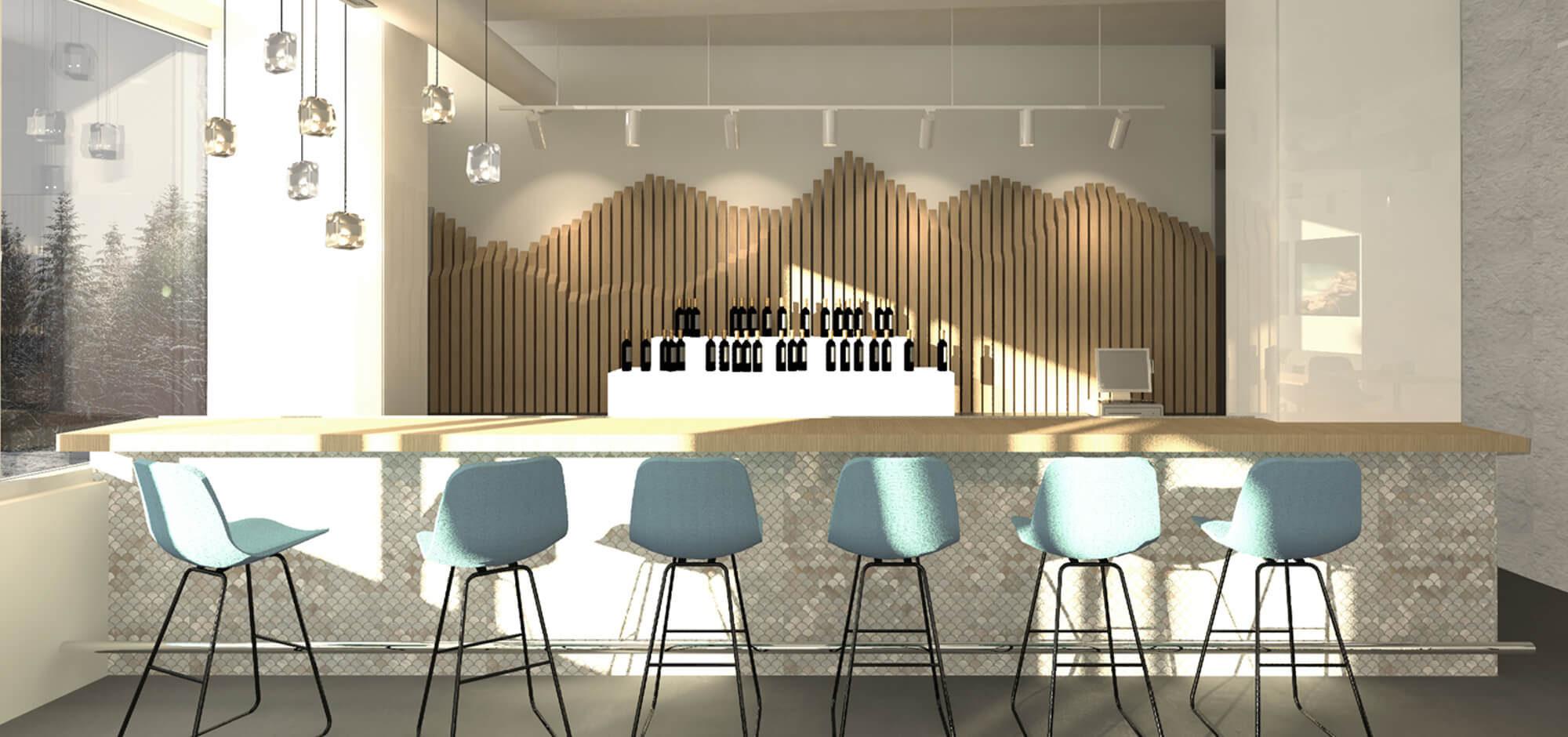 Spa Bar Design & Bar Stools