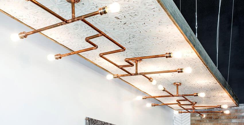 Modern Copper Light Fixture
